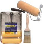 paint brushes, rollers & trays