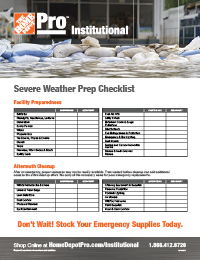 Hospitality Sever Weather Prep & Cleanup Checklist